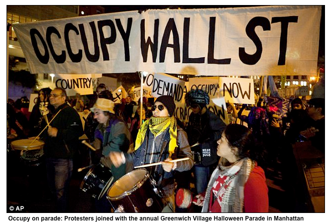 Occupy Wall Street banner design