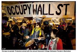Occupy Wall Street banner design