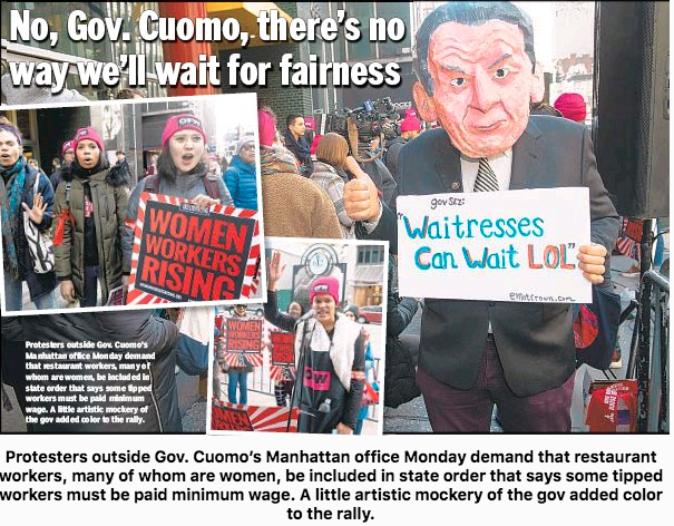 Cuomo - Waitresses can Wait