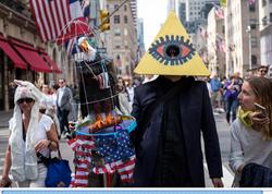 Illuminati Man and Caged Eagle