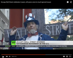 Uncle Sam on the Wall Street Cross