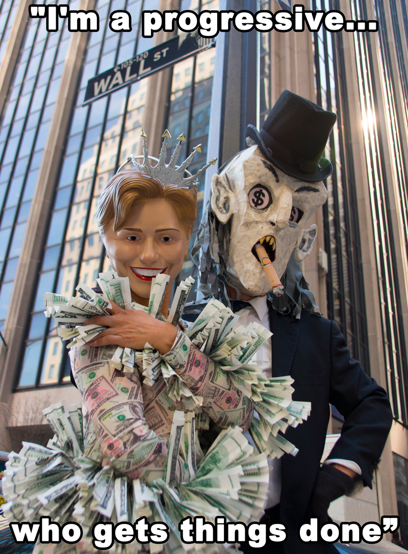 Hillary & friend on Wall Street
