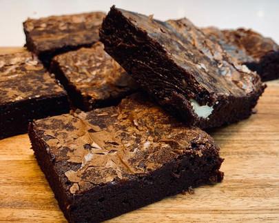 Double chocolate vegan brownie