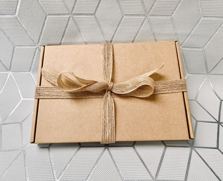 Beautifully wrapped box pf brownies