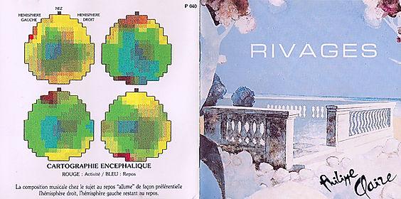 Livret intérieur du CD Rivages de Philippe Claire, cartographie encéphalique