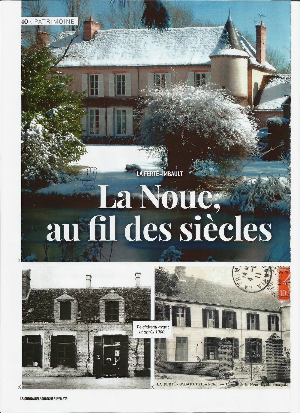 Château de la Noue sous la neige.
