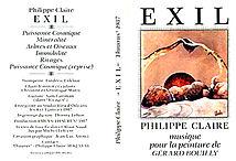 Pochettede la cassette Exil de Philipe Claire pour la peinture de Gérard Bouilly