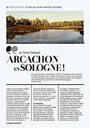 """Article """"Le petit arcachon"""" dans le Journal de la Sologne"""