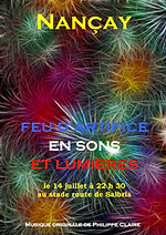affiche u feu d'artifice de Nançay en 2016