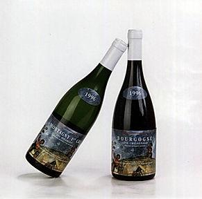 Les bouteilles de vin de Bourgogne de la cuvée Pulsions
