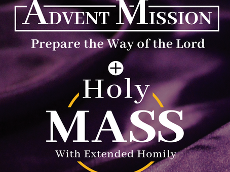 Advent Mission: Nov. 30 - Dec 2