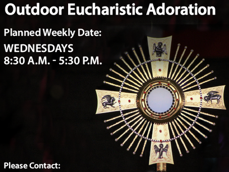 Volunteers Needed for Outdoor Eucharistic Adoration
