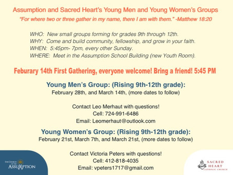 New Youth Group Forming