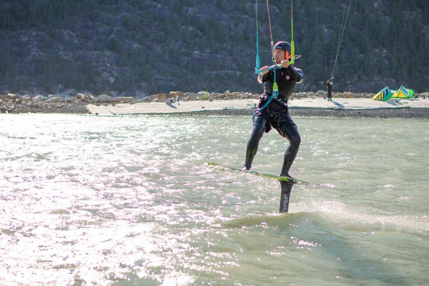Get amazing Kitesurf lessons with the Aerial Kiteboarding School, Squamish Watersports Ltd