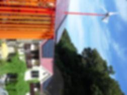 風力発電、太陽光発電、ゴーヤによる緑のカーテン