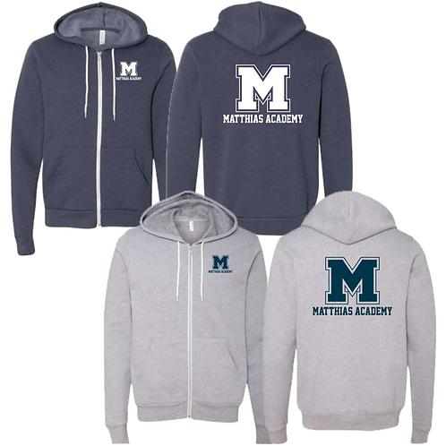 Full Zip Hooded Sweatshirt w MA logo