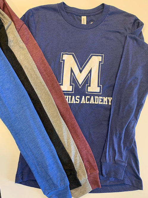 Tri Blend Long Sleeve Matthias Academy T-Shirts