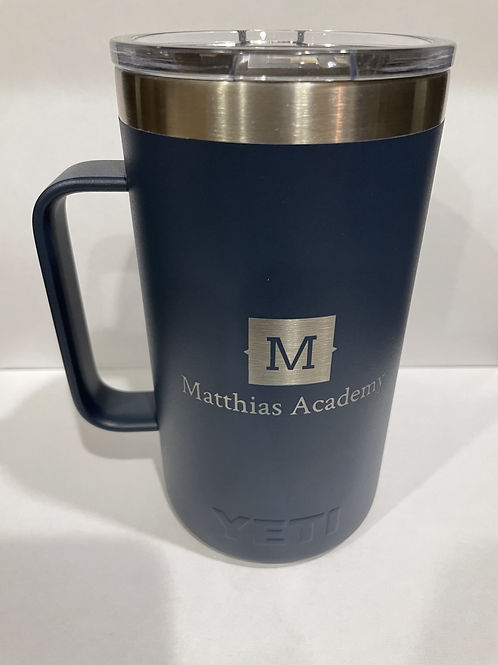 YETI 24oz NAVY Mug with MA logo