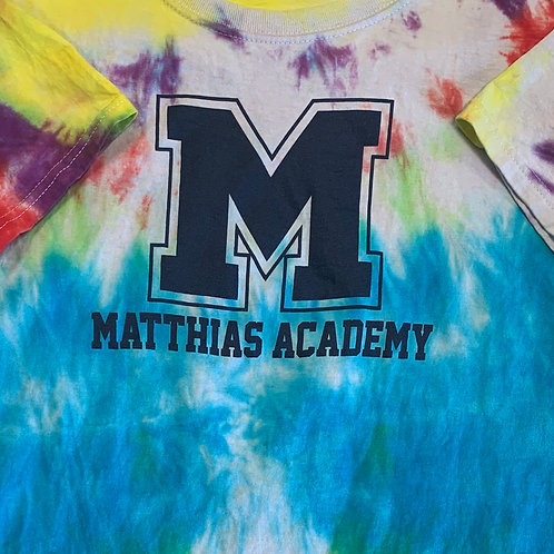 Student Made Matthias Academy Tie Dyed T-Shirts