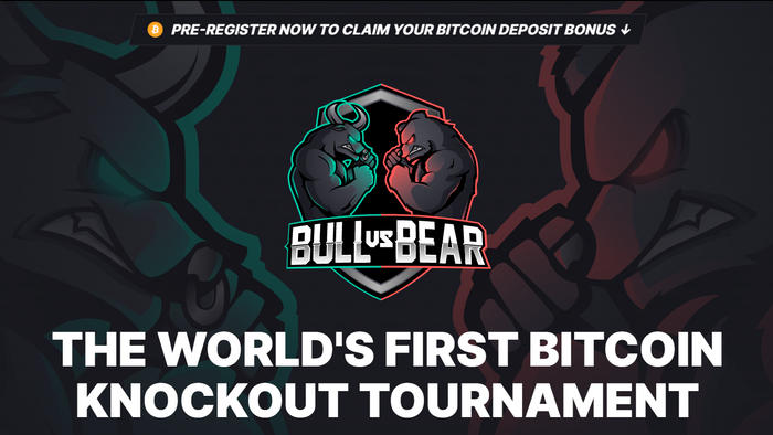 THE WORLD'S FIRST  ₿ $BTC BITCOIN KNOCKOUT TOURNAMENT