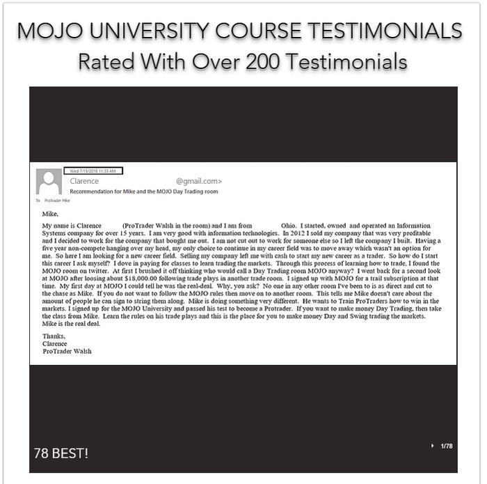 MOJO UNIVERSITY TESTIMONIALS
