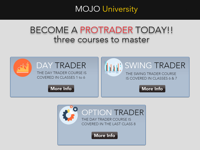MOJO University (3) Courses