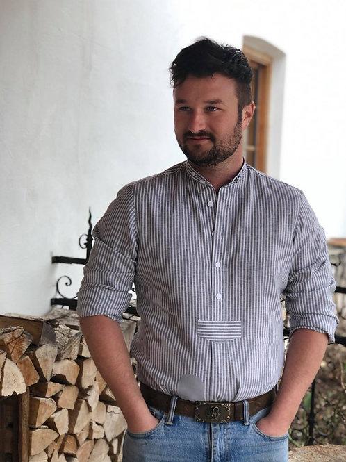"""Handg`macht Hemd """"hgrün/weiß"""""""
