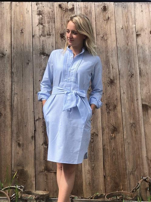 HundSansScho Kleid / blau Schwesternstreif
