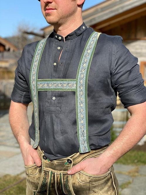 "Gottseidank Leinen-Hemd ""asphalt"""
