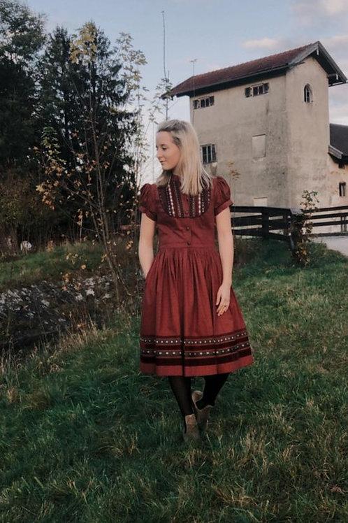 "Lena Hoschek Gretl Kleid ""rosenholz"""