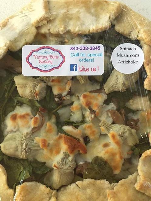 Artichoke Mushroom & Spinach Galette