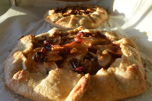 Apple Pear Cranberry Pecan Galette