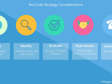 5 key considerations for a no code strategy