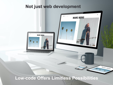 Is low-code only for mobile and web application development?