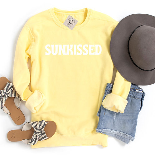 """""""Sunkissed"""" Pigment-Dyed Crewneck"""