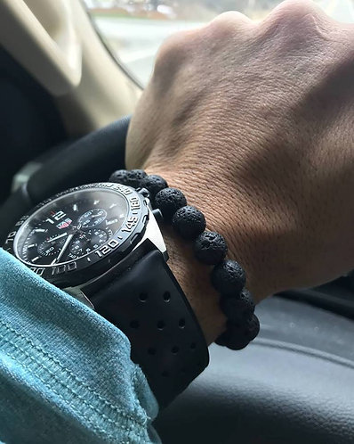 Black Lava Stone Diffuser Bracelet (10mm)