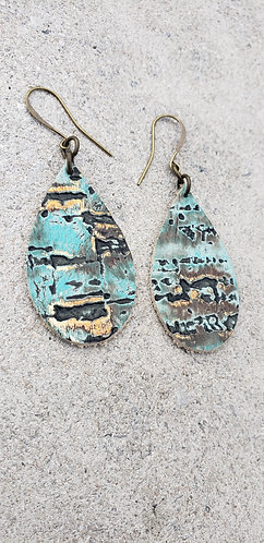 Gold & Turquoise Teardrop
