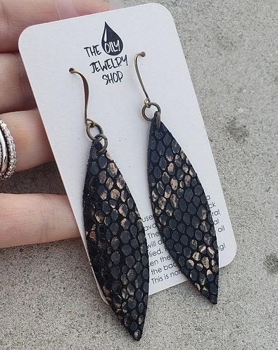 Black and Gold Snakeskin
