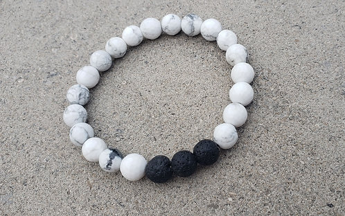 White Faceted Gemstone Bracelet