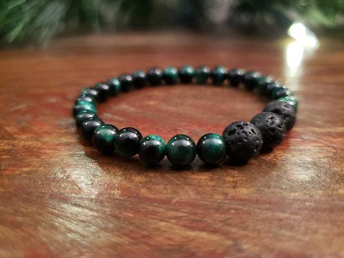 Green Tiger Eye Gemstone Bracelet
