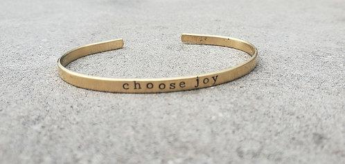 Choose Joy cuff bracelet