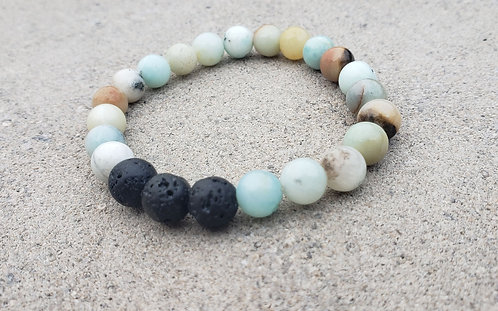 Teal Amazonite Gemstone Bracelet