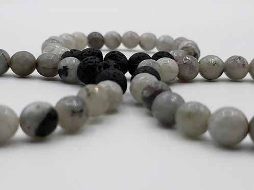 Grey Faceted Diffuser Bracelet