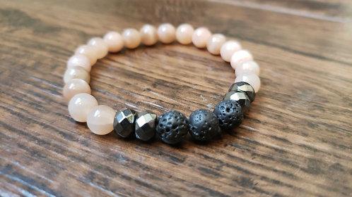 Moonstone and Hematite