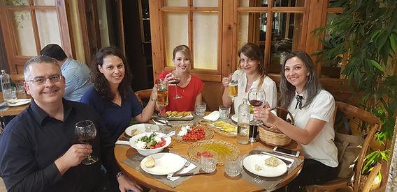 Lunch with Prof. László Kürtiin Crete (2018)