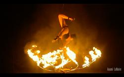 Fire lotus pole