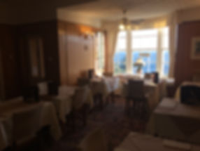 Dining room with sea views the whiteley scarborough