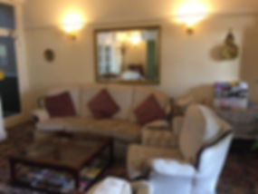 Guest lounge with sea view the whiteley scarborough