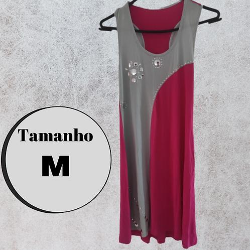 Vestido rosa/cinza