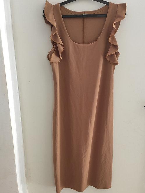 Vestido longo marrom